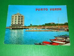 Cartolina Misano Adriatico - Porto Verde - Darsena 1970 Ca - Rimini