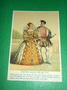 Cartolina Costumi Inglesi Del Sec. XVI - Pubblicità Creme Frabelia 1940 Ca - Cartoline