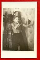 SPORT Boxer BOY SEMI NUDE VINTAGE PHOTO POSTCARD 95 - Vintage Men < 1945