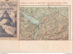 Suisse Schweiz Switzerland Svizzera Carta Geografica H. Kummerly & Frey Relief Carte - Europe