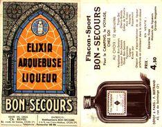 Publicité Elixir Arquebuse Liqueur Bon-secours - Pubblicitari