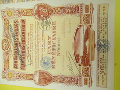 Compagnie Des Tabacs Et Plantations Du Cameroun/ Part Bénéficiaire/Société Anonyme / Nyombé/1929       ACT123 - Afrika