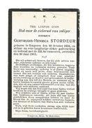 501. GERTRUDIS-HENRICA STORDEUR - °TONGEREN 1836 En Aldaar + 1903 - Imágenes Religiosas