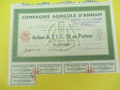 Compagnie Agricole D'Annam/ Société Anonyme/Action Au Porteur /Paris / /1948       ACT124 - Asia