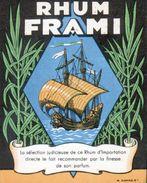 ETIQUETTE RHUM FRAMI (scannée Recto-verso) - Whisky