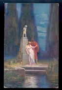 A. Liebscher: Rimska Laska / Postcard Circulated, 2 Scans - Peintures & Tableaux