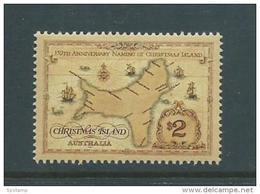Christmas Island 1993 $2 Name Anniversary Map Single MNH - Christmas Island