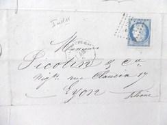 Lettre Avec Cérès N° 60 TAD Convoyeur Station Guillaucourt Indice 11 - Postmark Collection (Covers)