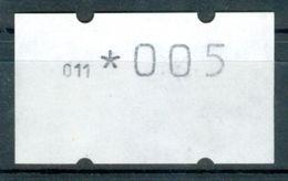 Israel MACHINE LABELS - KLUSSENDORF - 1990, Test Paper - White (no Printing) With Cnr 011 ; Value *005 - Mint Condition - Vignettes D'affranchissement (Frama)