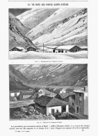 LA VIE DANS LES POSTES MILITAIRES ALPINS D'HIVER à CHAPIEUX    1905 - Alpes - Pays-de-Savoie