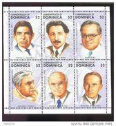 DOMINICA  1806  MINT NEVER HINGED SHEETLET OF NOBEL PRIZE RECIPIENTS - Premio Nobel