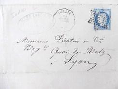 Lettre Avec Cérès N° 60C TAD Convoyeur Station Corbie Indice 10 étoile Muette - Postmark Collection (Covers)