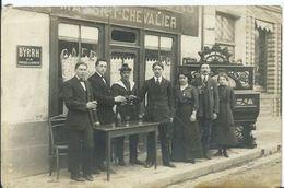 NOGENT LE ROTROU - CARTE PHOTO - Café MASSIET - CHEVALIER - Place Saint Pôl (piano MAGNAN ) - Nogent Le Rotrou
