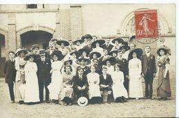 NOGENT LE ROTROU - CARTE PHOTO - Fête Des Fleurs 16/06/1912 - Les Quéteuses Cour Saint Joseph - Nogent Le Rotrou