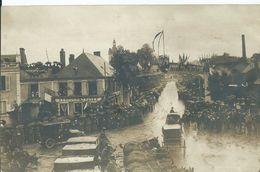 NOGENT LE ROTROU - CARTE PHOTO - Visite Du Président POINCARE Le 26 Octobre 1913 (place De La Gare) - Nogent Le Rotrou