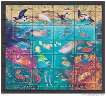 Christmas Island 1998 Fish & Marine Life Sheetlet Of 20 FU - Christmas Island