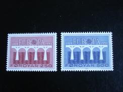 """Feroe - Europa 1984 """"Pont De Coopération"""" - Y.T. 91/92 - Neuf (**) Mint (MNH) - Europa-CEPT"""