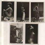 NUDI ETNICI AFRICANI NUDE GIRL Lotto Di 5 Fotografie Cm 6 X 9 - Africane