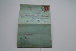 Courrier Avec Superbes Oblitérations De Floreffe De 1885 ,Superbe Pièce Pour Collection - Autres