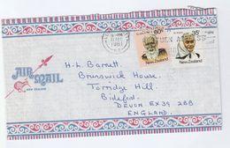 1981 Air Mail Lower Hutt  NEW ZEALAND COVER Stamps Te Ata O Tu, Te Puea To GB Cover Illus Kiwi Bird Birds - New Zealand