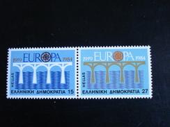 """Grèce - Europa 1984 """"Pont De Coopération"""" - Y.T. 1533/1534 - Neuf (**) Mint (MNH) - Europa-CEPT"""