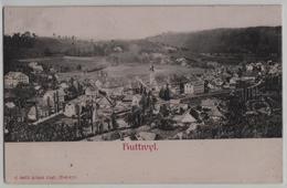 Huttwil - Generalansicht - Präge Relief-Karte - BE Bern