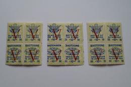 Superbe Lot De 3 Feuillets De 4 Timbres ( V ) + 10 F. ,Bastogne ,Superbe état Strictement Neuf Pour Collection - WW II