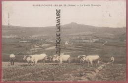 58 - SAINT HONORE LES BAINS----La Vieille Montagne--scene De Labourage Avec Attelage De 6 Boeufs - Saint-Honoré-les-Bains