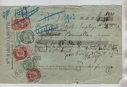 TP FB S/reçu Avec 3 Présentations D'1 Montant De 5,25 Puis 8,30 & 8,40 V.Namur(Station) Dates Différentes 1907 JS100 - 1893-1900 Fine Barbe