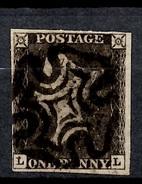 """Grande-Bretagne YT N° 1 """"Penny Black"""" Oblitéré. Signé Dietrich. Premier Choix. A Saisir! - 1840-1901 (Victoria)"""