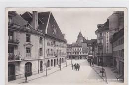 """Bulle, Avenue De La Gare. Soldats. """"AU GRAND PASSAGE"""". Magasins PITTET, GOBET - FR Fribourg"""