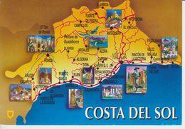 (MAP58) MALAGA. MAPA COSTA DEL SOL. MAP. MAPE - Mapas