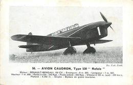A-17.7016 : AVION. EDITION ZENITH. AVION CAUDRON. TYPE RAFALE  . MOTEUR RENAULT-BENGALI. BIPLACE DE TOURISME - 1946-....: Moderne
