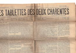 Les Tablettes Des Deux Charentes Journal Politique Du Jeud 26 Avril 1888 - Books, Magazines, Comics
