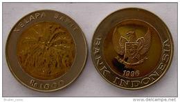 INDONESIA 1000 PUPIAH 1996 BIMETALLICA  PALMA FDC UNC - Indonésie