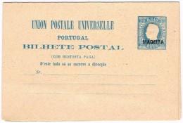 """Madeira, 1879, # 4-duplo, Bilhete Postal """"Restosta"""" E """"Sr"""" - Madeira"""