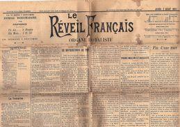 Le Réveil Français Organe Royaliste N° 33 Du Jeudi 5 Août 1897 - Books, Magazines, Comics