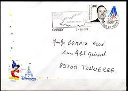 Lettre Illustrée Disnesyland Paris -flamme Chessy Marne La Vallée - Disney
