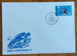 BULGARIA  SPORT INVERNALI SCI ANNULLO TEMATICA SPORT MANIFESTAZIONE SPORTIVA IN DATA 27/11/1983 - Sci