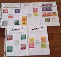 Banco De 2000 à 2003, émission N°4 à 9 Et 1, 2, 4 + 2 - 52 Tickets De Loterie - Billets De Loterie