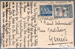Açores, 1925, Bilhete Postal Para Geneve - Azores