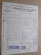 OSCAR VAN DEN HAUTE ( Construction Automobiles ) GRAMMONT ( Factuur / Tax ) > Mr. Flamant : Anno 1922 ! - Automovilismo