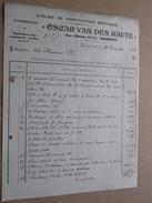 OSCAR VAN DEN HAUTE ( Construction Automobiles ) GRAMMONT ( Factuur / Tax ) > Mr. Flamant : Anno 1922 ! - Cars