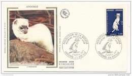 ANDORRE - Enveloppe FDC => Protection De La Nature - Hermine - Andorre La Vieille 1977 - FDC