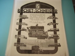 ANCIENNE PUBLICITE CAMION ET VEHICULES INDUSTRIEL ROCHET SCHNEIDER 1932 - Camions