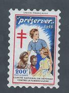 PRESERVER TIMBRE ANTITUBERCULEUX 1955 200F : - Commemorative Labels