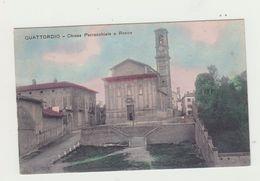 QUATTORDIO (PIEMONTE) CHIESA PARROCCHIALE E ROCCA - NON VIAGGIATA - POSTCARD - Alessandria