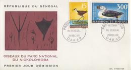 Enveloppe  FDC  1er  Jour   SENEGAL    Oiseaux  Du   Parc  National   Du   NIOKOLO - KOBA    1968 - Sénégal (1960-...)
