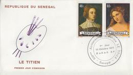 Enveloppe  FDC  1er  Jour   SENEGAL   Oeuvre  De   LE  TITIEN   1977 - Sénégal (1960-...)