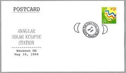 ECLIPSE SOLAR - ANNULAR SOLAR ECLIPSE. Wauseon OH 1994 - Astronomùia